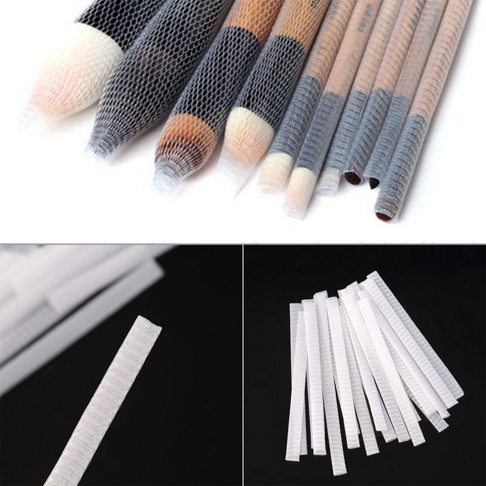 Hot selling 20PCS Makeup Cosmetic Beauty Brush Pen Guards Sheath Mesh Netting Protector Cover