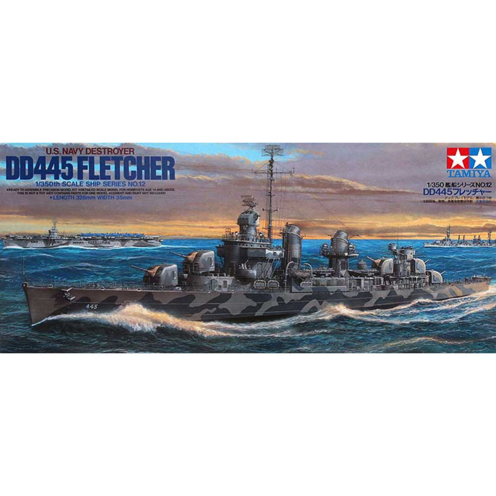 Wwii italy navy battleship roma 1943 plastic model images list - Ohs Tamiya 78012 1 350 Us Navy Destroyer Dd445 Fletcher Assembly Scale Military Ship Model