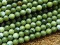 Envío Libre (3 hilos/sistema) Natural de 8mm Verde jade Granos Flojos Redondos DIY semi-preciosas piedra Al Por Mayor
