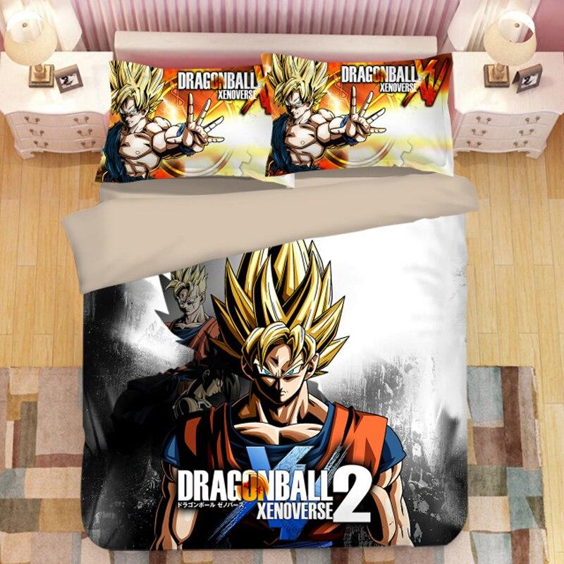DRAGON BALL Z 3D bedding set Son Goku Vegeta Duvet Covers Pillowcases Dragon Ball comforter bedding