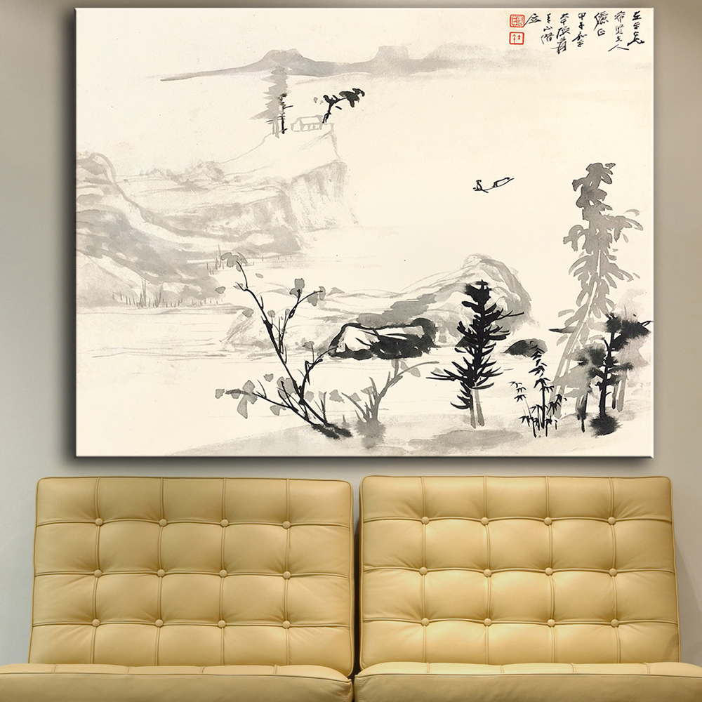 Large Size Print Wall Art Oil Painting Drifting By The