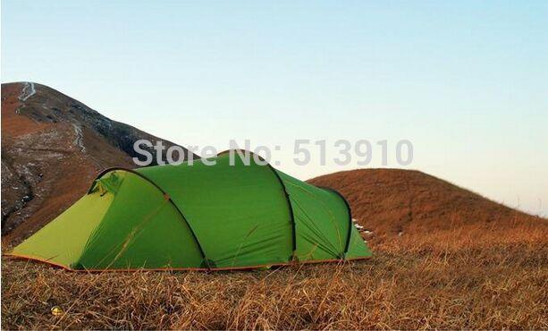 3F UL Gear 2 personne 3 saison 15D silicone enduit aluminium tige tunnel randonnée pêche plage anti pluie/vent extérieur camping tente