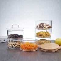 Three Floors Glass Storage Jar Bottle with Cover Minimalist Storage Bottle Nut Seasoning Container for kitchen Organizer Home