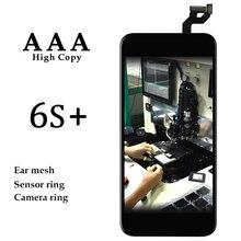 3 sztuk klasy AAA     części zamienne do telefonów komórkowych dla iPhone 6 S Plus wyświetlacz LCD czarny biały ekran dotykowy Panel z 3D ekran dotykowy zgromadzenie