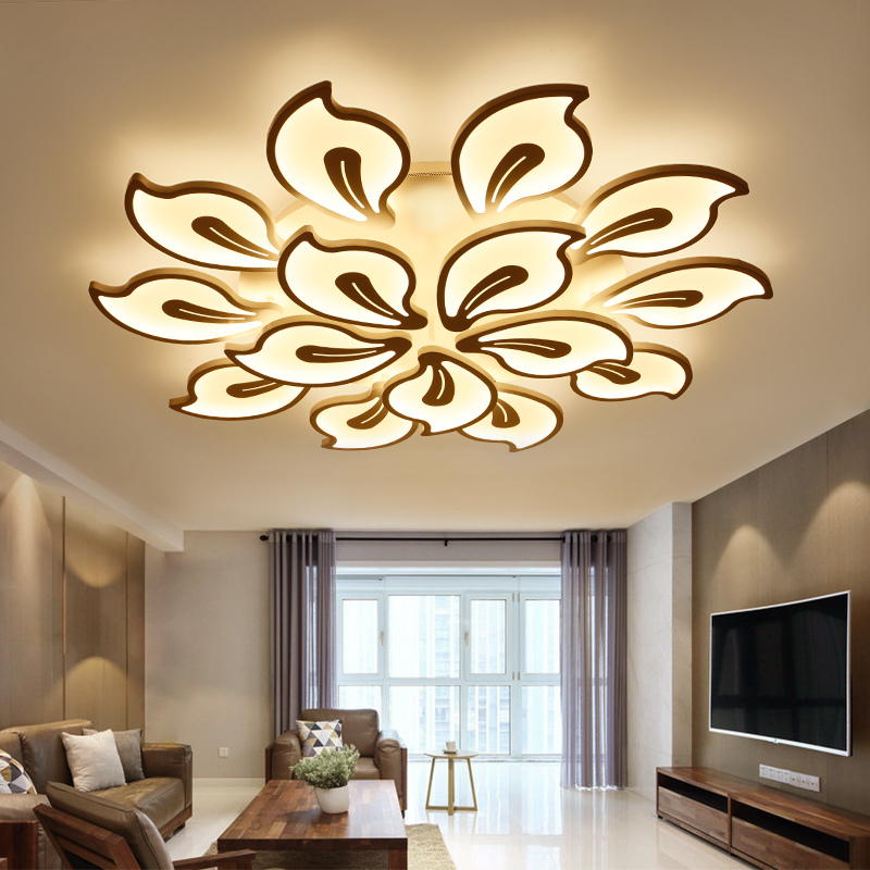 new modern led chandeliers for living room bedroom dining room acrylic iron body indoor home. Black Bedroom Furniture Sets. Home Design Ideas