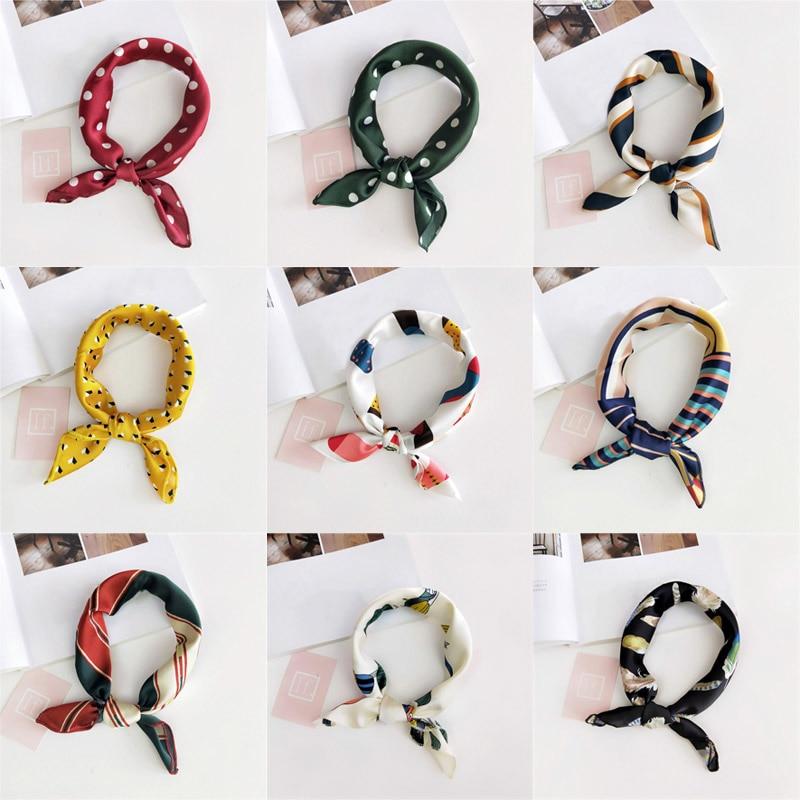 Fashion Female Fashion   Scarf   Clothing Match 1Pcs Hair Band Handle Bags   Scarf   Multifunction   Scarves   &   Wraps   Women Silk Riband