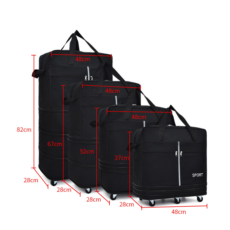 Large-capacity Portable Travel Bag Rolling Trolley Bag Air Roller Expandable High Quality Oxford Cloth Bag with Luggage Bag vacuum cleaner for sofa