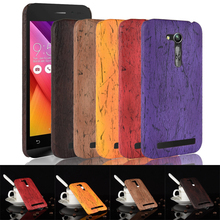 For Asus Zenfone GO ZB452KG Case Luxury hard Wood grain Leather Back Cover Case For Asus Zenfone GO ZB452KG Cover Phone Case