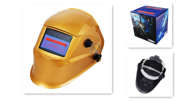 HOT SALE yellow big view mag welder mask for you eyes' sefe GIGISIX EH-1010  цены