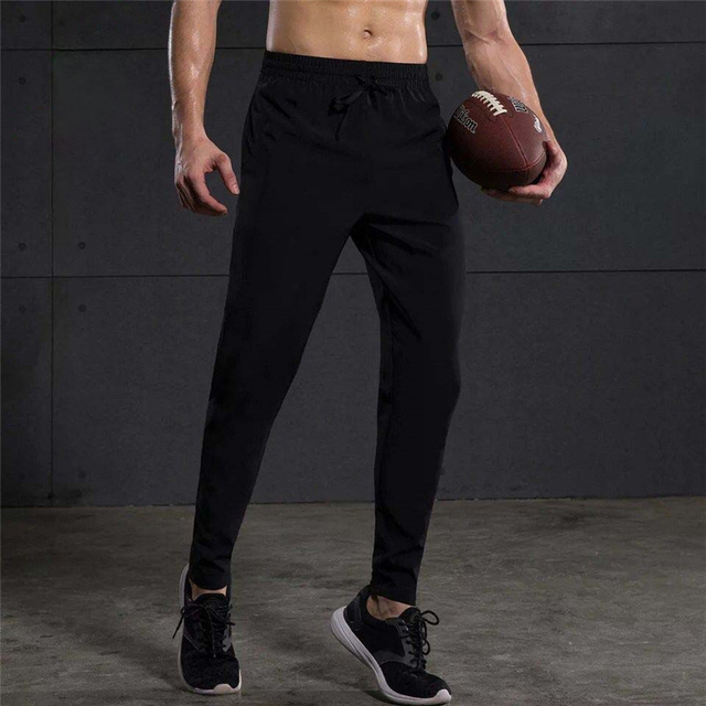 Men Running Pants Gym Fitness Sports Legging Jogger Basketball Training Workout Running Trousers Sportswear Reflective  2