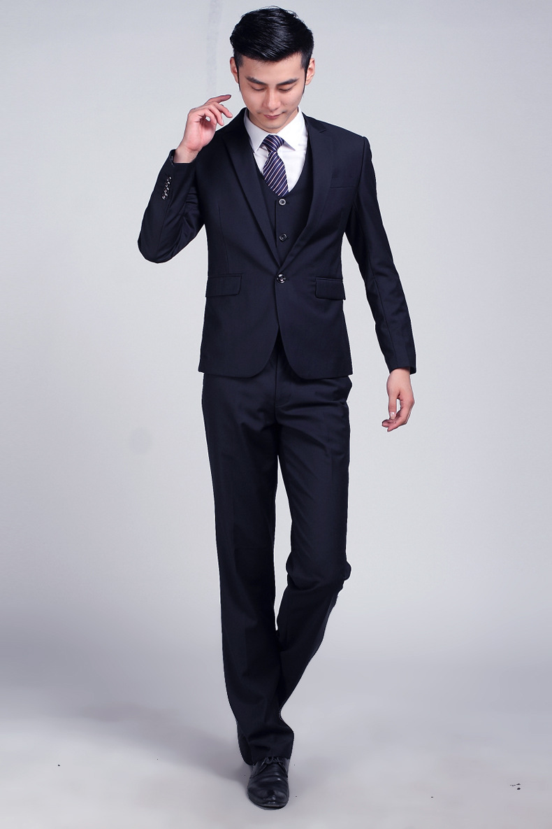 Aliexpress.com : Buy Dark Blue Formal Wedding Men Suit Set Fashion