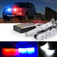 2x4 DC 12V Strobe Warning Light Car Truck Motorcycle LED Flash Lights Ambulance Police Flashing Firemen