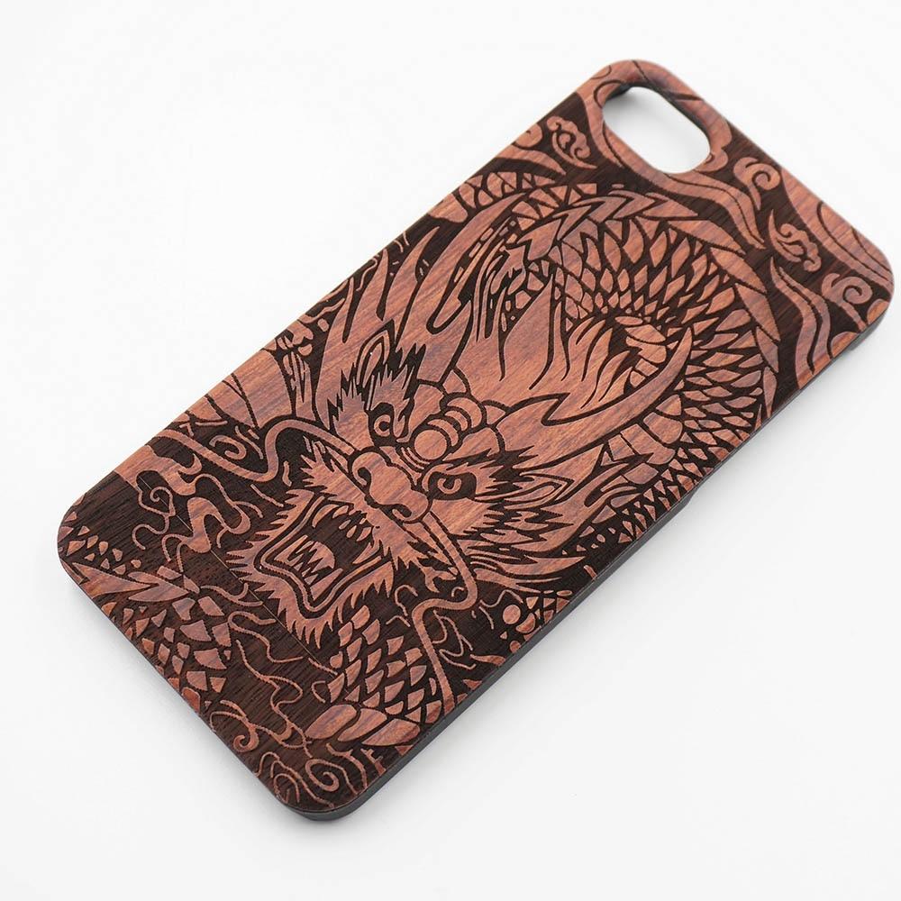 wood processing laser engraving patterns wooden case elephant chinese dragon pc plastic frame. Black Bedroom Furniture Sets. Home Design Ideas
