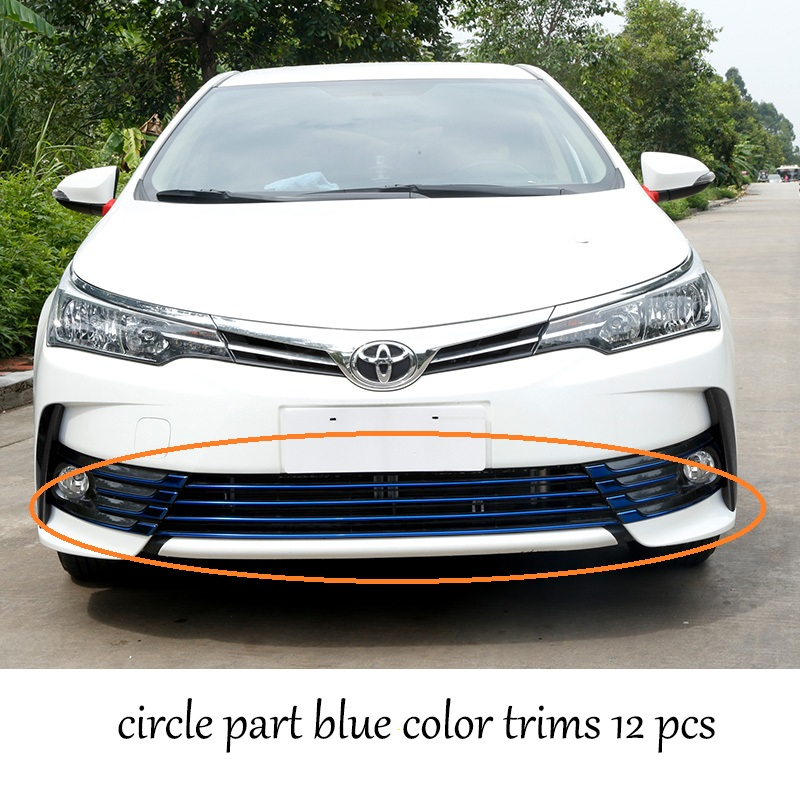 car styling stainless steel car front grill net  for toyota corolla 2017 2018 E170 2007 2009 fit for toyota corolla high quality stainless steel front center grill grid grille cover trim car styling 2pcs