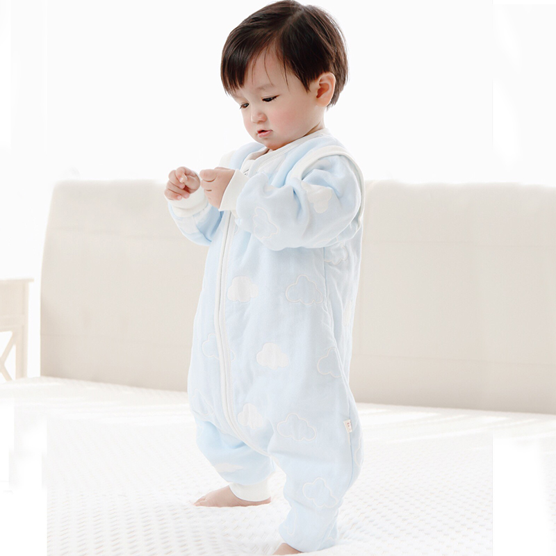 MMKIDS Baby Blanket Sleepers Zipper Cent leg pajamas Cotton Separable –  ToysZoom