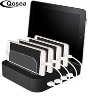 Qosea Smart 5 USB Multi-funktion Ladegerät Ladestation Dock 5 Ports Dock Ständer Halter Für Smartphone iPad tablet EU UNS Stecker