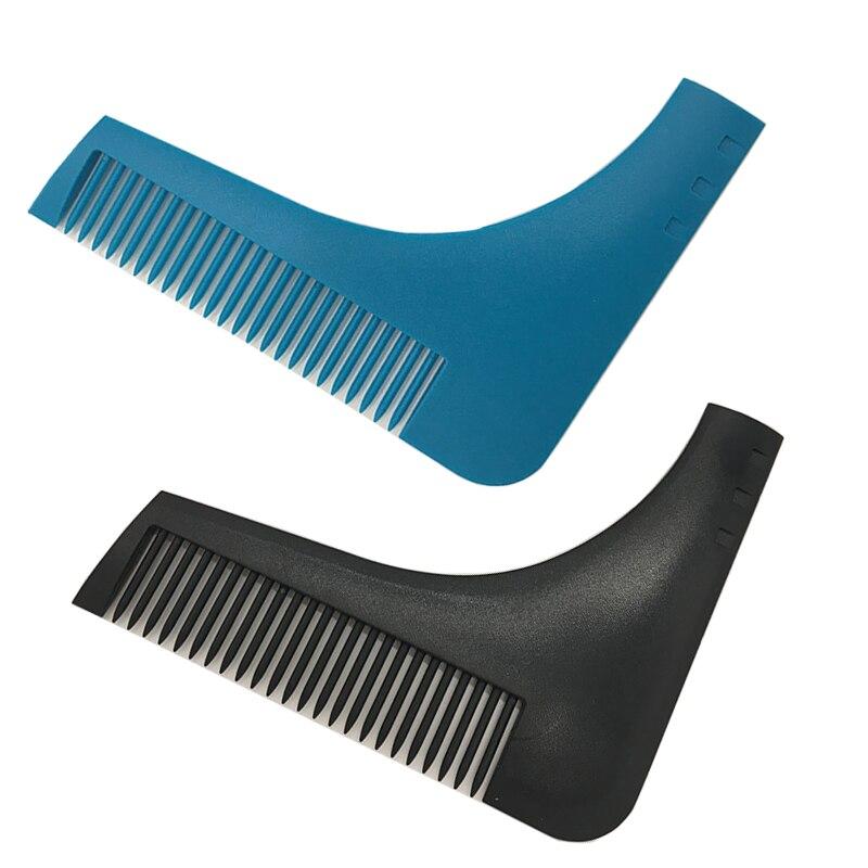 HOT Beard Shaping Comb Beard Trimmer Shaping Tool Sex Man Gentleman Beard Trim Template Beard Combs Shaving Hair Molding