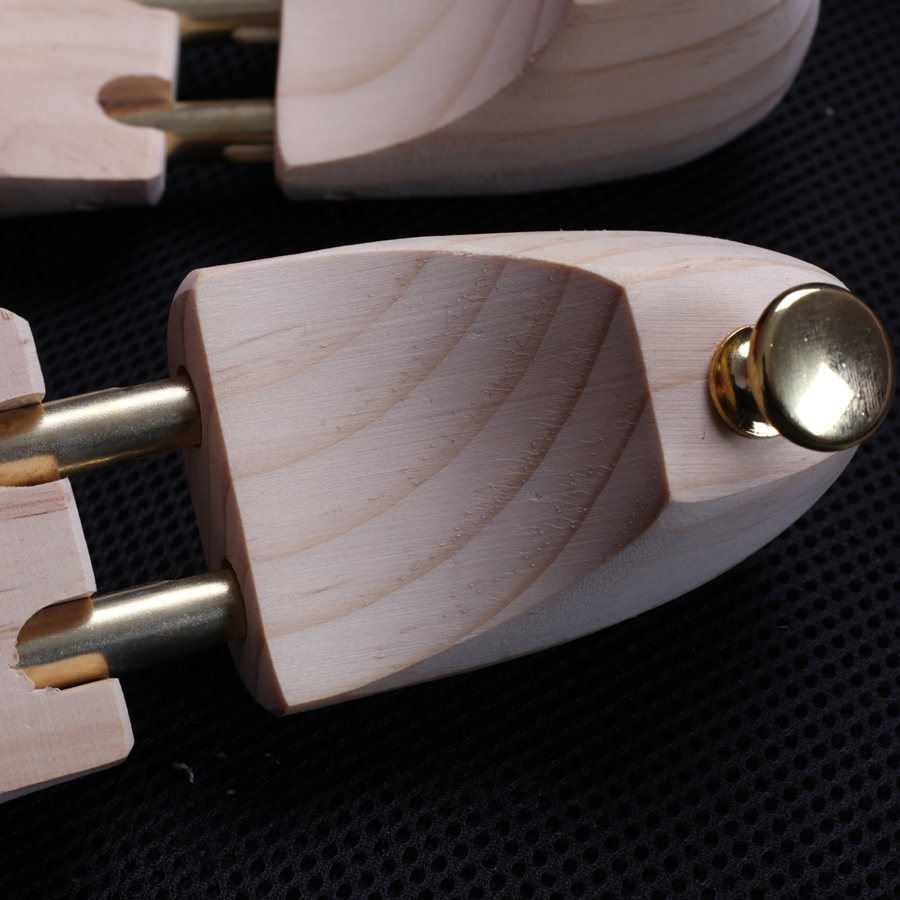 Men's Pine Wood Shoe Trees Metal Knob Adjustable Length And Width Shoe's Care