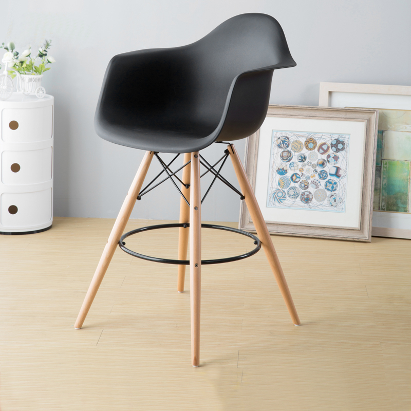MODERN DESIGN BAR STOOL PLASTIC COUNTER STOOL Chair WOODEN PLASTIC side STOOL lOFT CAFE HIGH STOOL CHAIR nice kitchen room stool counter height modern wood bar chair stool kitchen pub chair bar furniture armless stool dining chair wooden tall house stool