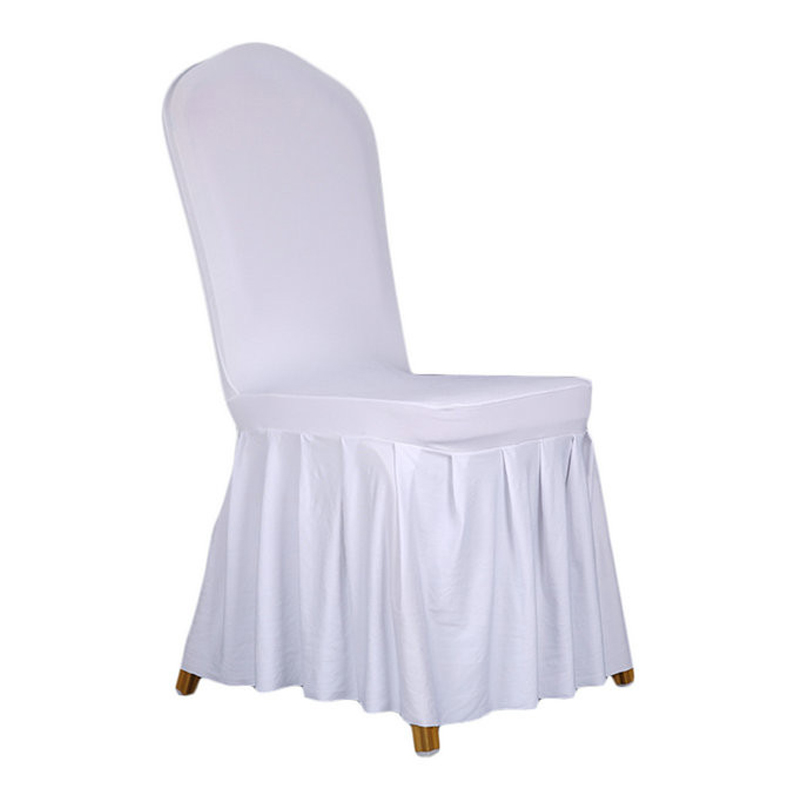 White Chair Cover Polyester Spandex Dining Chair Covers For Weddings Decoration Home Hotel Restaurant Chair Cover ...