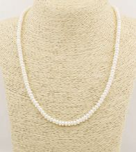 55 мм натуральный белый Абакус жемчужное ожерелье ювелирные