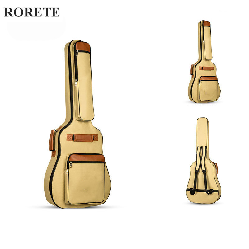 High quality waterproof thicken guitar bag 41 inch double-shoulder electric guitar bass 39inch classical guitar parts shoulders thickening ballad guitar bag wooden guitar backpack 41 inch waterproof guitar electric bass bag electric guitar bag