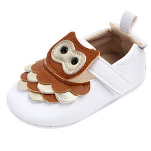 Baby Cartoon Eyes Owl Princess Shoes Baby Shoes Walking Shoes Coffee Wear-resistant neonatal shoes fashion Zapato #YL1(China)