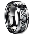 Freeshipping new punk ring for lover Vintage engagement Dragon Tungsten steel Ring for Men & women lord Wedding rings