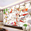 Beibehang Large Scale Custom 3d Wallpaper High Grade Fish Wallpaper Wallpaper Living Room Sofa Bedroom TV