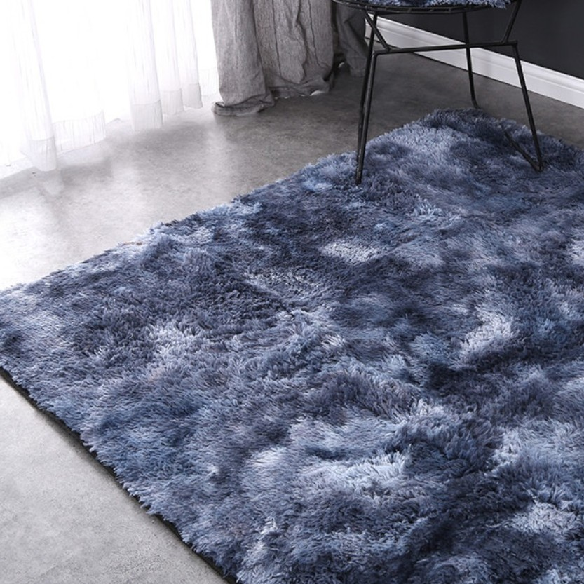 Luxury Rectangle Square Soft Warm Plush Floor Rugs Fluffy Area Rug Gradient Carpet Shaggy Long Hair Solid Mat for Home Decor