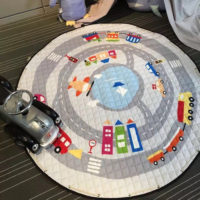 lovely cartoon city traffic road cars multifunctional play mats nonskid crawling rug carpet blanket kids boys