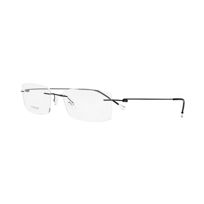 Image 4 - Titanium Rimless Rectangular Shape Eyeglasses Optical Frame for Men and Women Eyewear-in Men's Eyewear Frames from Apparel Accessories