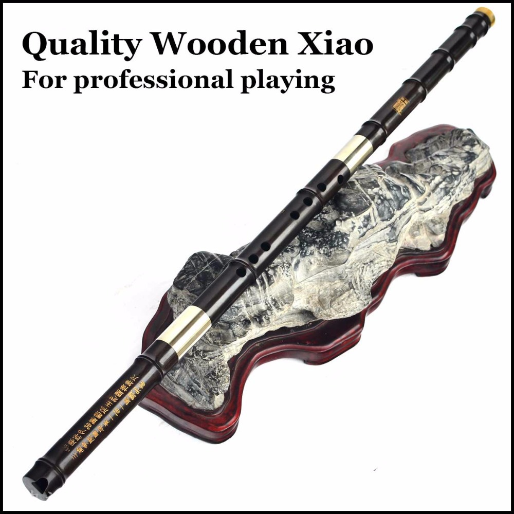 Chinese Wooden Flute Xiao Professional Traditional Musical Instrument Handmade Wood Northern Dong Xiao 8 Hole Key G Ebony Flauta wholesale 17 e key trepanned dual flute musical instrument