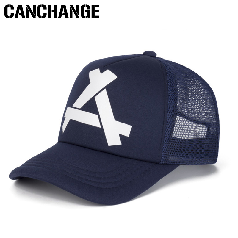 b7942fc7a52 CANCHANGE New Fashion Letter Baseball Cap Women Men Breathable Hip Hop Hats  Summer Casual Mesh Caps