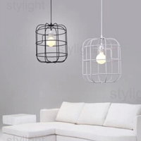Italian classic cage pendant lamp creative design iron cage modern simplistic American country style living room dinning room