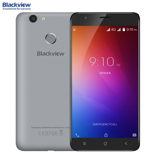 Blackview E7 ROM 16GB+RAM 1GB Network 4G 5.5'' Android 6.0 MTK6737 Quad Core 1.3GHz Smartphone LTE Support GPS Dual SIM