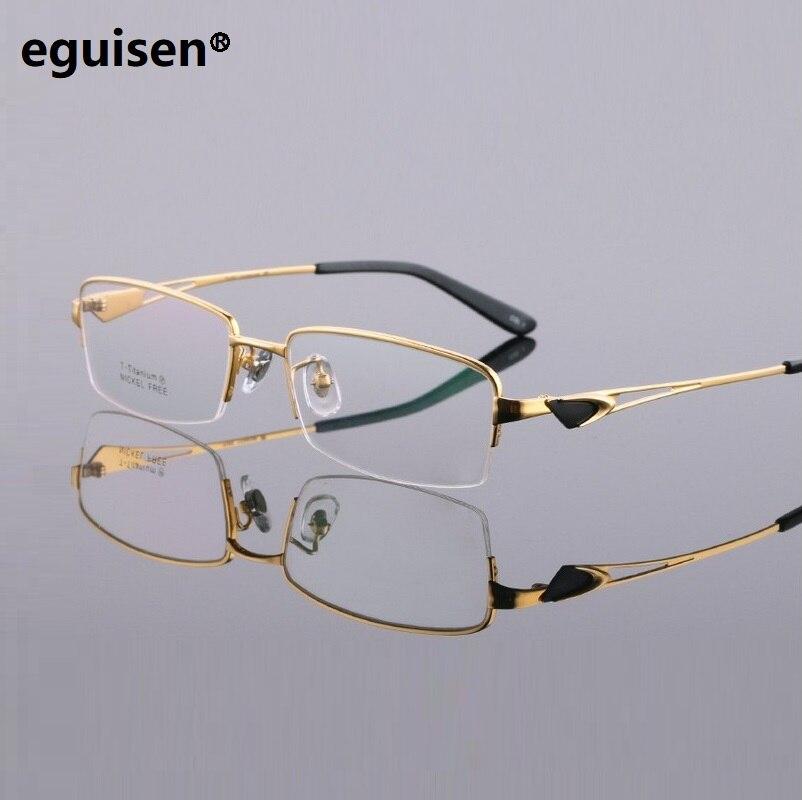 width-145 Pure titanium ultra light frame business big face mens myopia half frame eyeglasses frame male oculos de grau glasses