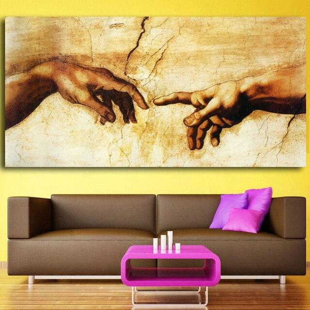 Creation of Adam! Hand of god! prints Religion wall ...
