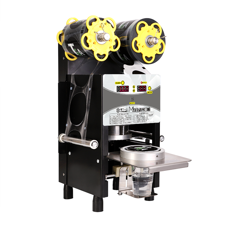 Automatic Cup Sealing Machine Commercial Plastic Milk Tea Cup Sealer Portable Electric Drinks Sealing Machine M10