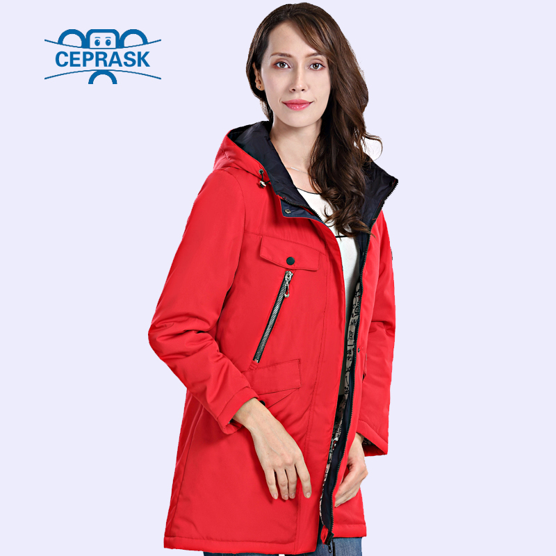 CEPRASK 2018 High Quality New Winter Jacket Women Thickening   Parka   Plus Size Long Women's Winter Coat Hooded Warm Down Jacket