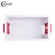 Coswall 146 Тип сухая подкладка коробка для гипсокартона гипсокартон 47 мм Глубина настенная коробка переключателей настенная розетка кассеты