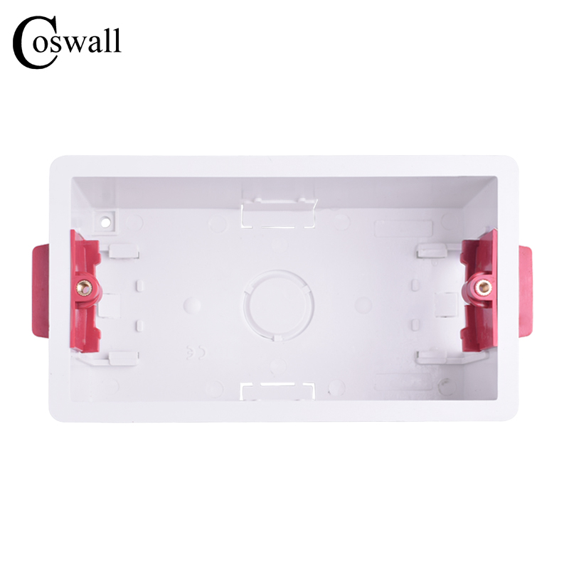 Coswall 146 Type Dry Lining Box For Gypsum Board Plasterboad Drywall 47mm Depth Wall Switch BOX Wall Socket CassetteCoswall 146 Type Dry Lining Box For Gypsum Board Plasterboad Drywall 47mm Depth Wall Switch BOX Wall Socket Cassette