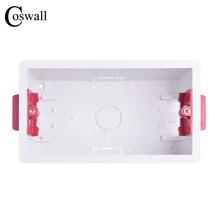 Coswall 146 typ suche pudełko podszewka na płyty gipsowe płyt gipsowo-kartonowych 47mm głębokość przełącznik do montażu ściennego Box gniazdo ścienne kaseta cheap CN (pochodzenie) NONE CS-MT-DRY-02 Dry Lining Box Gypsum Board Plasterboad Drywall 131mm*70mm*45mm 120mm 12 years 143mm*83mm*47mm