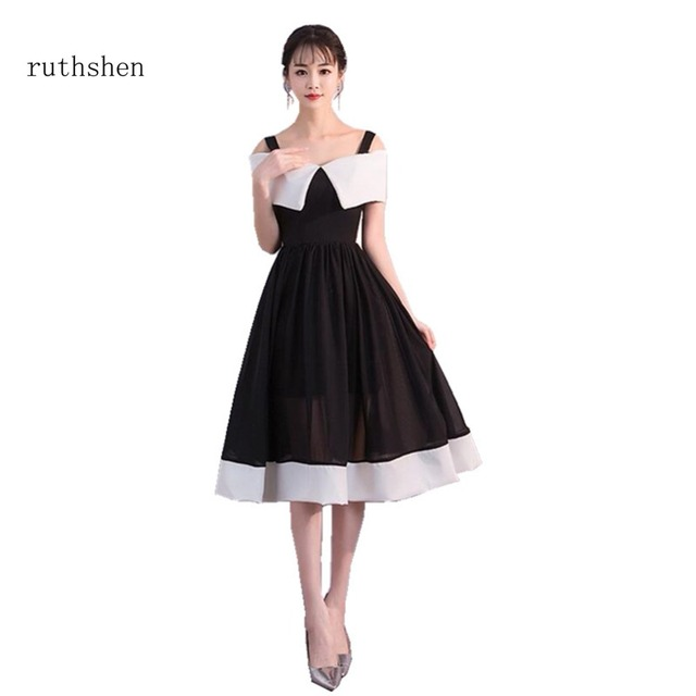 Ruthshen 2018 Charming Knee Length Prom Dresses 2018 Sexy Boat Neck