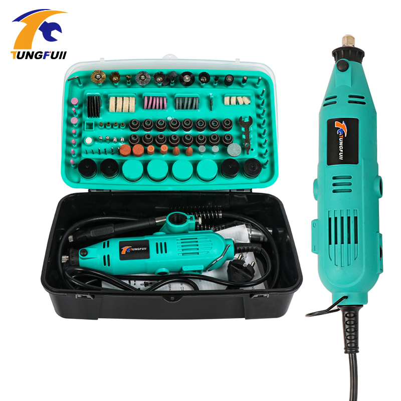 Tungfull Mini Drill Dremel Style Drilling Machine Dremel Drills Rotary Tools Power Tool Accessories Grinder Electric Hand Drill