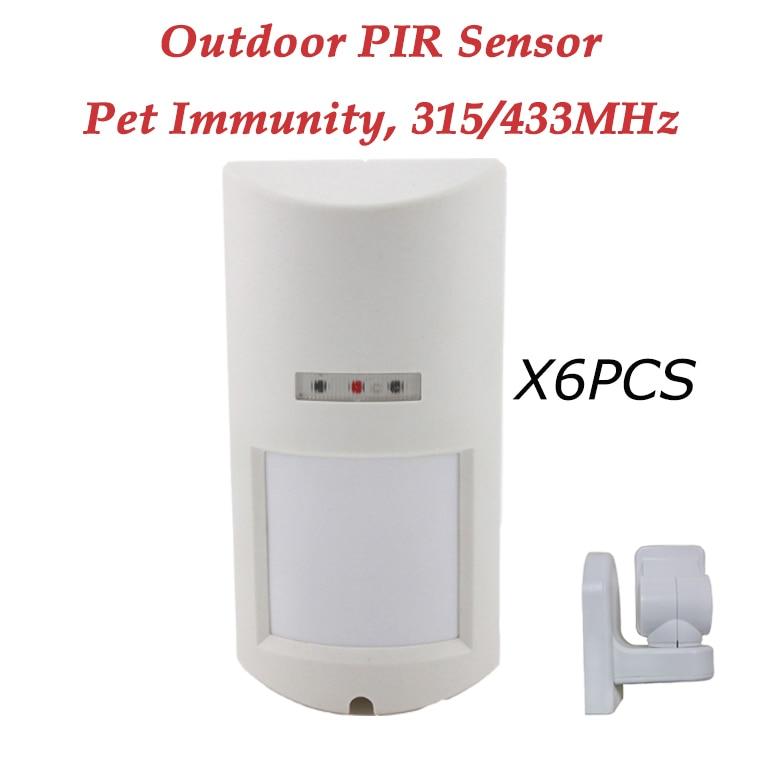 ФОТО 6pcs DHL SHIPPING outdoor street pir sensor detector pet immune waterproof motion sensor for wifi gsm alarm system G90B,G19,W2