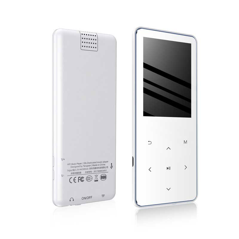 IQQ Slim MP3 Bluetooth 4.2 touch screen music player Bulit-in 16GB and Speaker Portable player with FM/Record suite for running