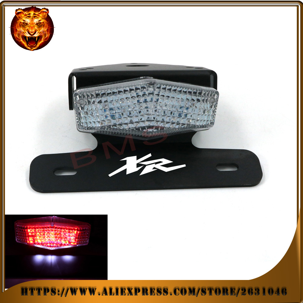 Motorcycle Tail Tidy Fender Eliminator Registration License Plate Holder LED Light For HONDA XR 250R 400R 250 400 xr250 xr400 motorcycle tail tidy fender eliminator registration license plate holder bracket led light for ducati panigale 899 free shipping