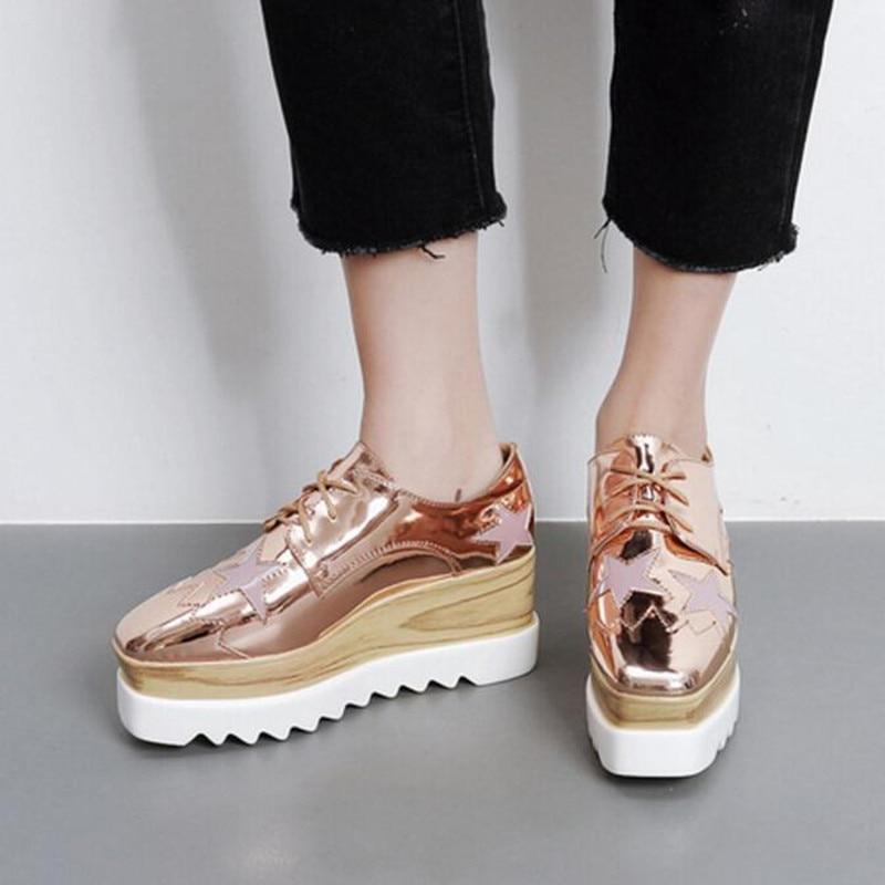 Fashion star zapatos de plataforma femenina 2017 nuevos pisos zapatos de  las mujeres impermeables de la