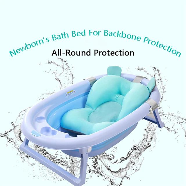Newborn Bath Tub Net Non Slip Bath Mat Bath Mesh Baby Shower Rack